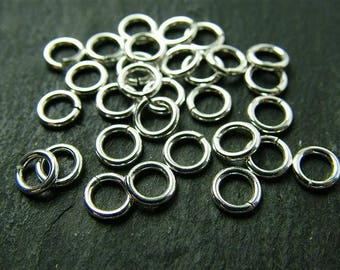 Sterling Silver Open Jump Ring 5mm ~ 22ga ~ Pack of 10 (CG2021b)