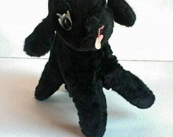 Vintage Stuffed Black Sheep Bantam