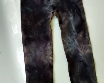 Galaxy Print Black Leggings Size M (7-9)