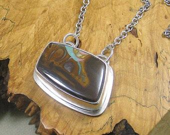 Koroit Opal Necklace Pendant set in Sterling Silver