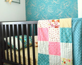 Toddler Bedding made for the Crib, Crib Skirt, Pillowcase, pillow, blanket