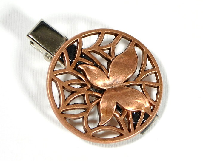 Butterfly Hair Clip Barrette Copper
