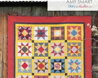 Gingham Girls Star - Quilt Pattern - PDF VERSION