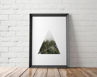 Woodland Printable, Forest Wall Art, Trees Decor, Nordic, Scandinavian, Nature Lover