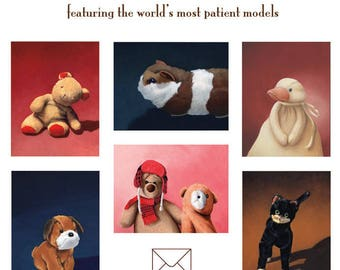 6 pack note cards, The Stuffed Animal Collection