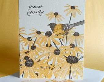 Black Eyed Susan Sympathy and Blank Note Cards