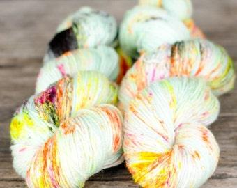 DOODLE - Hand Dyed Yarn Fingering Sock Weight - SW Merino/Nylon knitting, crocheting, weaving yarn - 420 yards approx.