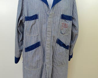 Vintage CHICAGO STONE CUTTER Universal Overall 1950's union made workwear herring bone twill sz. 46