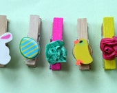 Mini Spring Easter Clothespin Magnets