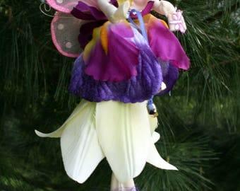 Flower Fairy Doll, Fairy Art Doll, Pixie, Woodland fairy, Christmas Fairy, Bridal Shower Favor