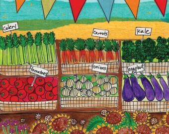 Greeting Card : Farmer's Market