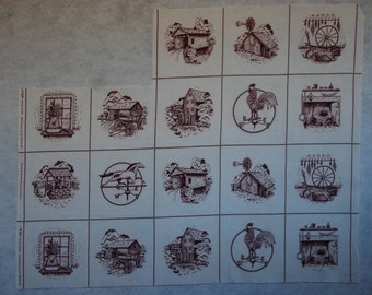 Country Scene Picture Patches V.I.P Screenprint