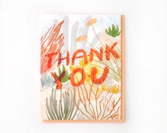 Desert Brush Thank You Card