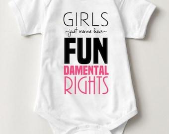 Girls Just Wanna Have FUNdamental Rights | Kids Human Rights Tee