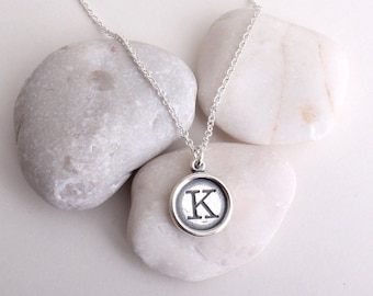 SALE 50% OFF! Discounted Initial Personalized Necklace in Sterling Silver. Your choice of charm. Limited Quantities!
