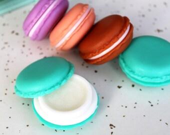Macaron Lip Balm - Organic Lip Balm - Natural Lip Balm - Dessert Lip Balm - Christmas Gift For Her - Stocking Stuffer - Gifts Under 10