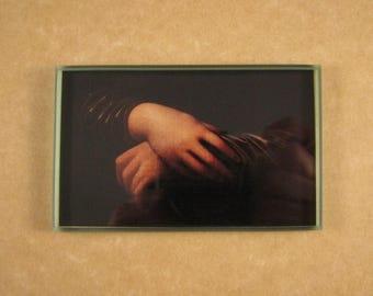 Mona Lisa's Hands, Hand Paperweight, da Vinci Paperweight, Leonardo da Vinci, Rectangle Glass, Tile Paperweight, Renaissance Art, Home Decor