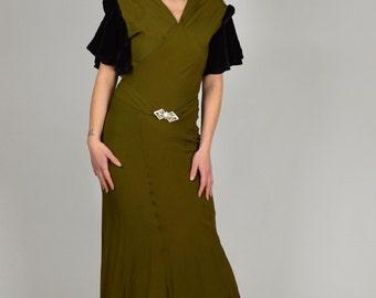 Olive green bridesmaid dress – Etsy