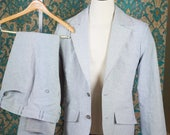 RESERVED---Custom 2pc Linen Suit BALANCE