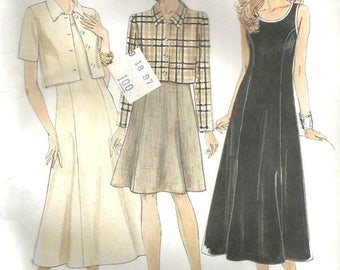 McCalls 8297 UNCUT Misses Sleeveless Dress with Princess Seams and Cropped Jacket Sewing Pattern Size 10-14 Bust 32.5-36