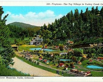 Vintage Colorado Postcard - Tiny Town in Turkey Creek Canyon (Unused)