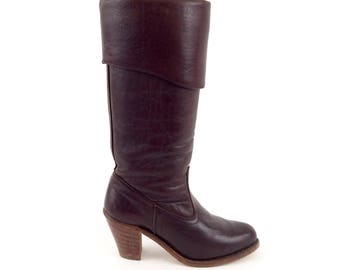 70s DEXTER leather HEEL riding boots 5 us, 35 eur