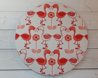 Flamingos - Mouse Pad mousepad / Mat - round or rectangle -  Computer Accessories Coworker Gifts Office