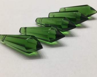 5 - 38mm Emerald Green Icicles
