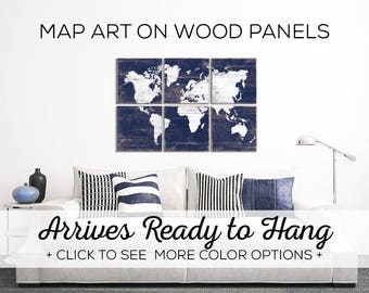 Vintage Map Wall Art - Browse Our Large World Maps for Sale - Perfect Living Room Decor for above the couch