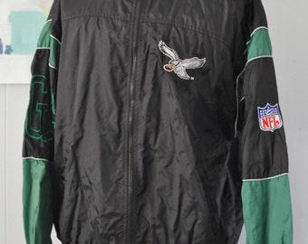 Vintage Eagles Jacket Windbreaker Philadelphia Philly Nfl Green Black XXL
