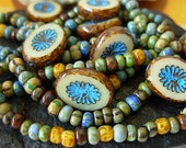 Czech Picasso Beads, Assorted Beads, Aged Picasso Seed Beads+ (#4RP)