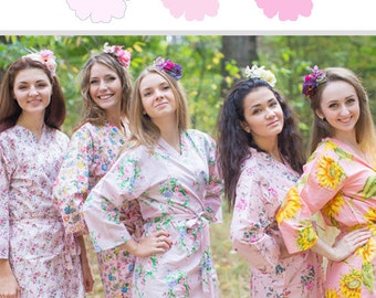 Shades of Light Pink Bridesmaids Robes