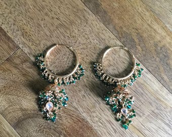 Vintage Emerald Chandelier Earrings