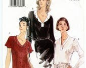 Vogue 9973 Misses' V-neck Blouse UNCUT Sewing Pattern Size Large 18-20-22 Bust 40 42 44