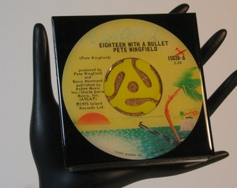 Pete Wingfield - Very Cool Drink Coaster Made with The Original 45 rpm Record