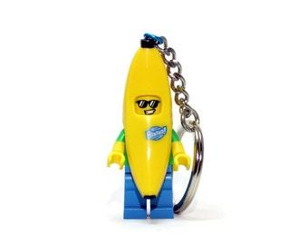 Banana Keychain - made from new LEGO ® Banana Guy Minifigure