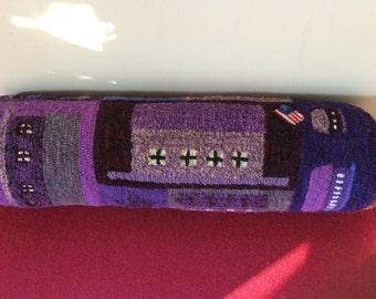 Hooked bolster - purple stars