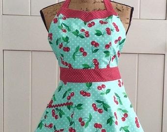 Retro Cherry Sweetheart Apron