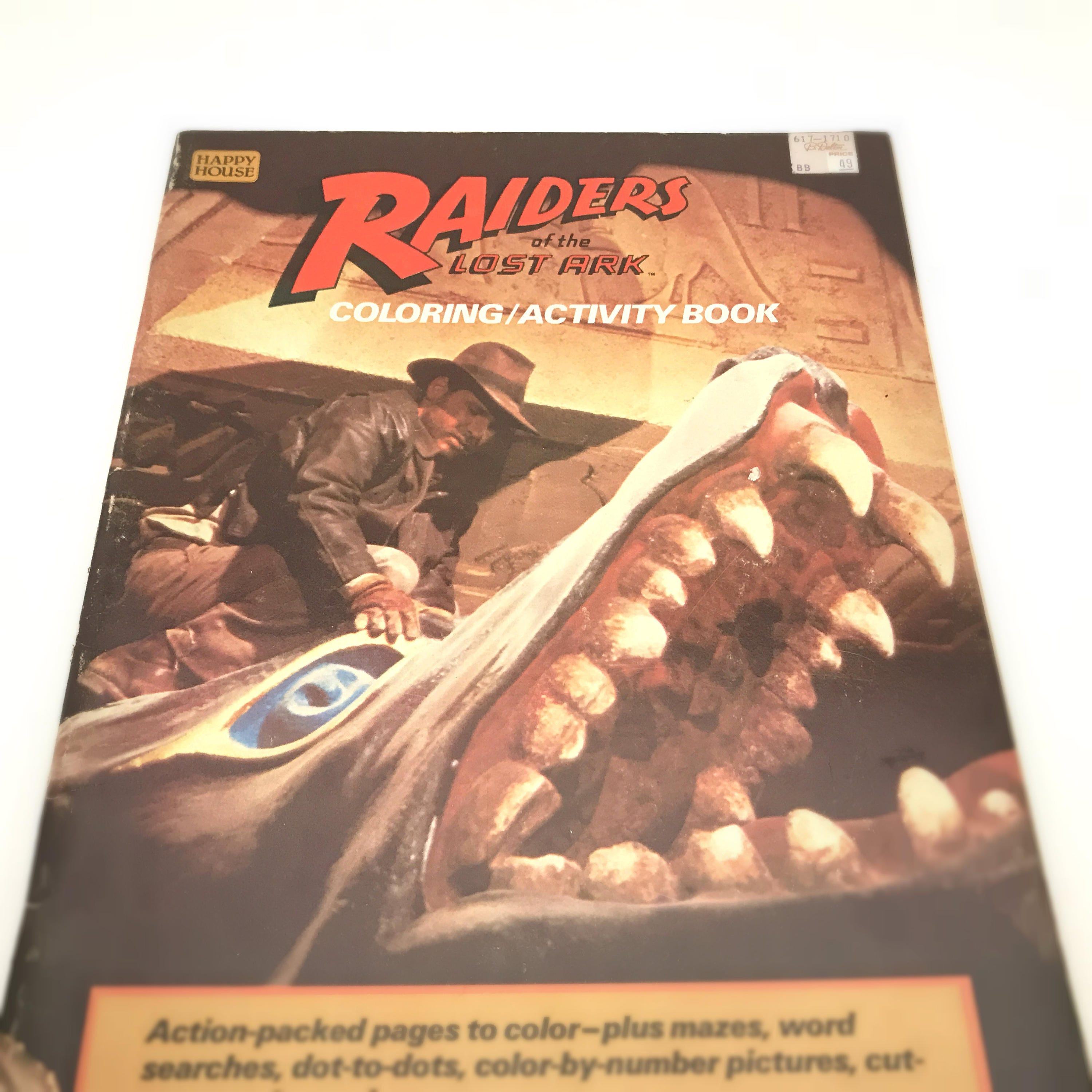 Whitman hot wheels coloring book - Vintage Coloring Book Indiana Jones Raiders Of The Lost Ark 1980s Kids Coloring
