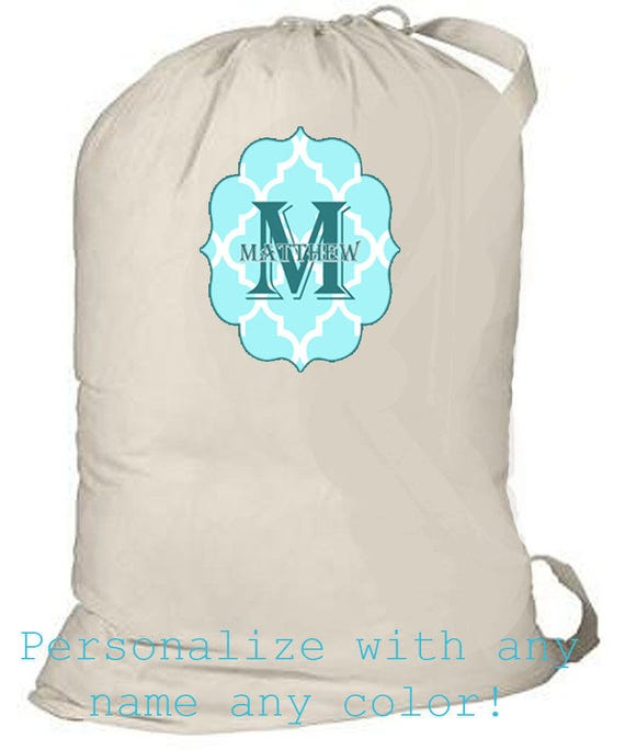 Personalized Laundry Bags, College Grad Gift, Custom Laundry Bag, Unique grad gift, laundry tote bag, canvas laundry tote, monogrammed tote