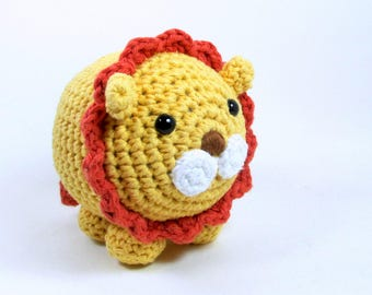 Crochet Lion Plush Toy, Amigurumi Lion, Jungle Theme Kids Room Decor, Zoo Stuffed Animal Toy Lion, Safari Lion Toy Plushie, Crochet Animal