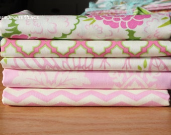 Five fat quarter  Bundle... Up Parasol ...by Heather Bailey.. pink colorway