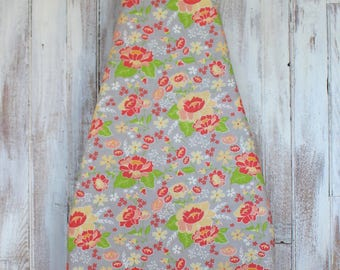 Ironing Board Cover - Sunny Floral on Grey