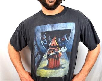 Vintage 90s Star Wars Tee Tshirt Black Large Theakston 1994 Lucasfilm
