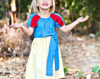 Snow White Princess Dress, Princess Inspired Dress, Apple Princess, Princess Birthday Dress, Vacation Dress, Girls Princess Dress, Dress Up