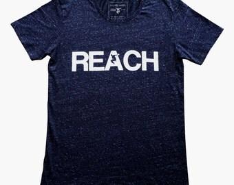 The REACH / ESCAPE Speckled Navy Parkour T-Shirt