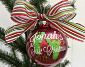 Personalized Baby's First Christmas Ornament // 1st Christmas Ornaments // Christmas Gifts // Baby Ornaments // 2016 Baby's First Ornament