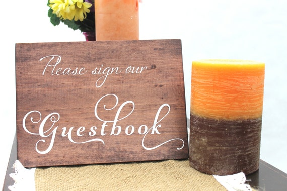 Guestbook Sign, Wedding SIgn, Rustic Wedding Sign