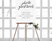 Photo Guest Book Sign, Instant Photo Guest Book Sign, Photo Wedding Guest Book, Printable Wedding Sign, Wedding Photo Sign, Alejandra