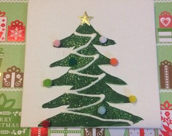 Christmas Tree Wall Art, 18 in doll decor